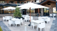 Enjoy summer on our terrace with mountain views